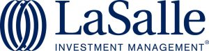 corporate brand logo showing name in navy blue with icon to left