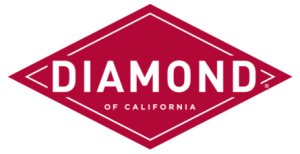 corporate brand logo of red diamond with white name in the middle