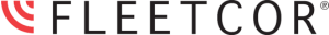 corporate brand icon showing name FLEETCOR in black with red RSS feed icon to the left